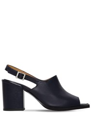 Aalto 80Mm Open Toe Sling Back Leather Sandals Navy