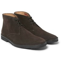 Connolly Suede Driving Boots Brown