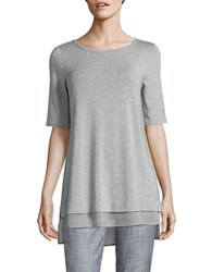 Context Elbow Length Sleeve Top Grey