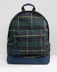Mi Pac Tartan Backpack Navy