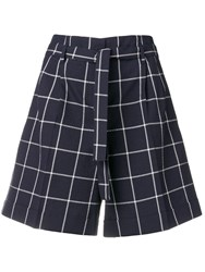 Paul Smith Ps Check Shorts Blue