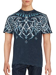 Affliction Cotton Printed Tee Black Lava