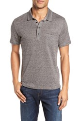 Billy Reid Men's Smith Slim Fit Polo Grey Melange