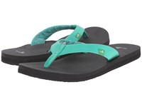 Sanuk Yoga Zen Hot Turquoise Women's Sandals Blue
