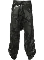 Mostly Heard Rarely Seen Camouflage Crank Trousers Black