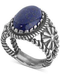 American West Lapis Lazuli Ring 5 1 5 Ct. T.W. In Sterling Silver