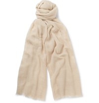 Begg And Co Wispy Cashmere Scarf Beige