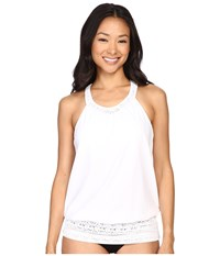 Prana Ani Tankini Top White Women's Swimwear