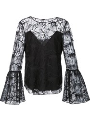 Zac Posen Lace Blouse Black