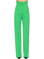 Antonio Berardi High Waist Cady Palazzo Pants Green
