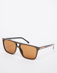 Lacoste Aviator Sunglasses Brown