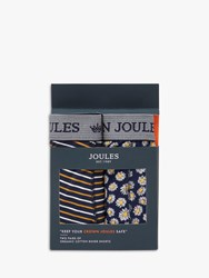 Joules Crown Boxer Shorts Pack Of 2 Daisy Stripe
