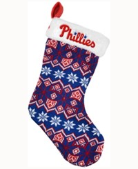 Forever Collectibles Philadelphia Phillies Ugly Sweater Knit Team Stocking Red