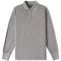 Paul Smith Long Sleeve Regular Fit Zebra Polo Grey