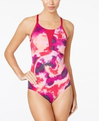 Nike Cascade High Neck Racerback One Piece Swimsuit Women's Swimsuit Sport Fuchsia