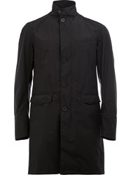 Herno Buttoned Mid Length Coat Black