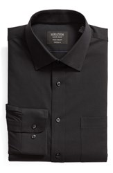 Nordstrom Big And Tall Shop Tech Smart Traditional Fit Stretch Pinpoint Dress Shirt Black Rock