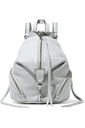 Rebecca Minkoff Woman Textured Leather Backpack Light Gray