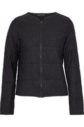 Majestic Filatures Woman Quilted Jersey Jacket Dark Gray