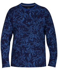 Hurley Men's Lineup Rogue Floral Print Sweatshirt Coastal Blue