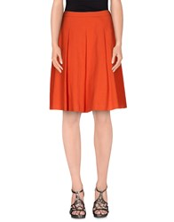Sportmax Code Skirts Knee Length Skirts Women Orange