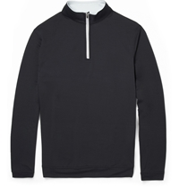 Peter Millar Perth Stretch Jersey Zip Neck Sweater Black
