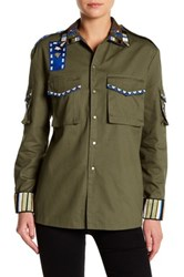 Ark And Co Beaded Army Jacket Green