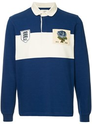 Kent And Curwen Two Tone Polo Shirt Blue