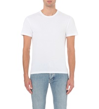 Sandro Short Sleeved Cotton Jersey T Shirt White