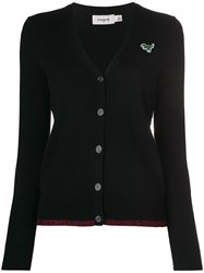 Coach Rexy Embroidered Cardigan Black