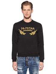 Dsquared Logo Embroidered Cotton Sweatshirt