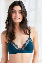 Out From Under Alexandra Jersey Lace Triangle Bra Dark Green