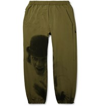 Undercover Tapered Printed Shell Trousers Green