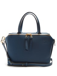 Loewe Zip Around Leather Bag Blue
