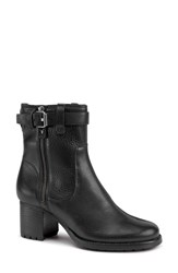 Trask 'Madison' Short Boot Black Leather