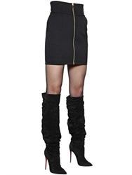 Alexandre Vauthier Zip Up Wool Crepe Mini Skirt
