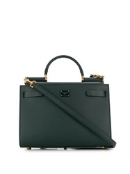 Dolce And Gabbana Small Sicily Tote Bag Green