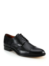 Saks Fifth Avenue Tommy Perforated Leather Derby Shoes Black
