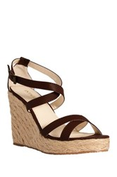 Intaglia Cyrus Espadrille Wedge Sandal Wide Width Available Brown