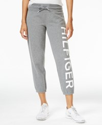 Tommy Hilfiger Sport Cropped Graphic Sweatpants A Macy's Exclusive Style Ash Heather