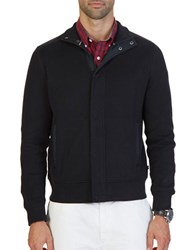 Nautica French Rib Track Jacket True Black
