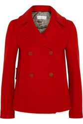 Golden Goose Deluxe Brand Angelica Double Breasted Wool Blend Peacoat Red