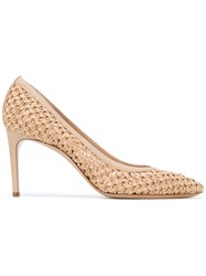 Casadei Pointed Toe Pumps Women Leather Nappa Leather Polyamide Kid Leather 35 Nude Neutrals