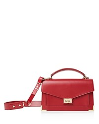 The Kooples Emily Medium Leather Satchel Burgundy