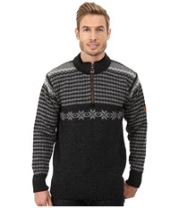 Dale Of Norway Fisketorget Dark Charcoal Smoke Light Charcoal Men's Sweater Black