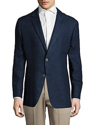 Hickey Freeman Sterling Linen Blend Jacket Navy