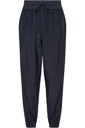 Dkny Shell Trimmed Twill Track Pants Navy