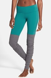 Alo Yoga Women's Alo 'Goddess' Ribbed Leggings Deep Teal Stormy Heather