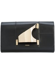 Perrin Paris L'eiffel Clutch Black