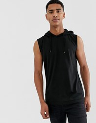 French Connection Sleeveless Hoodie Black